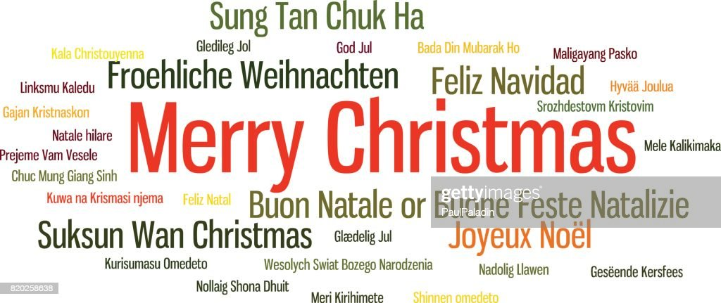 Merry christmas word cloud