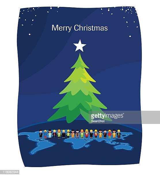 merry world christmas - australia day stock illustrations
