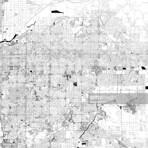 stockillustraties, clipart, cartoons en iconen met mesa, arizona vector kaart - geografische locatie
