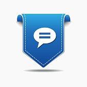 Message blue Vector Icon Design