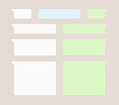 Message bubbles chat vector icons. Vector deign template of message bubbles chat boxes