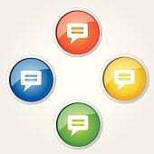 Message Circular Vector Colorful Web Icon Set Button