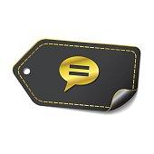 Message golden Vector Icon Design