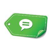 Message Green Vector Icon Design