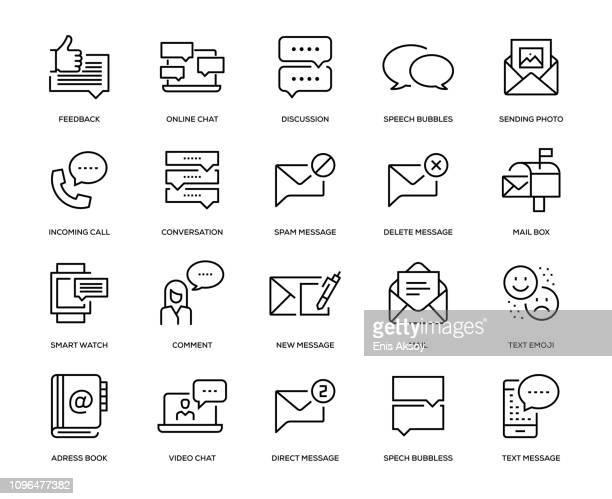 nachricht-icon-set - abschicken stock-grafiken, -clipart, -cartoons und -symbole