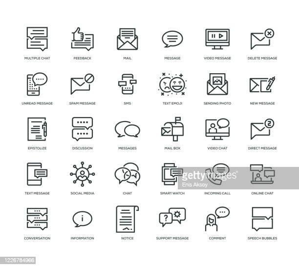 ilustrações, clipart, desenhos animados e ícones de conjunto de ícones de mensagem - debate