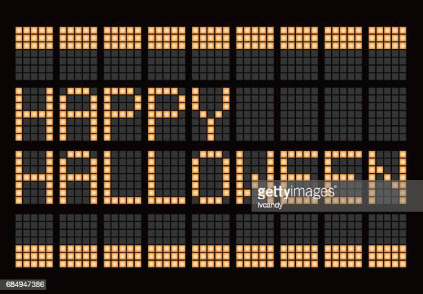 "led message is ""happy halloween"" - pastry lattice stock illustrations, clip art, cartoons, & icons"