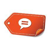 Message Orange Vector Icon Design
