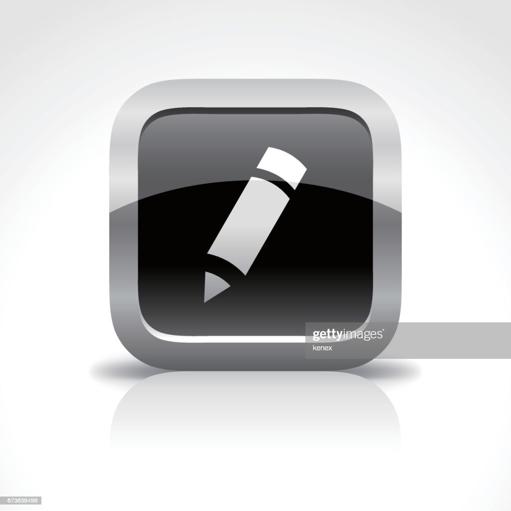 Message & Pen Glossy Button Icon