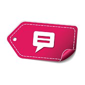 Message Pink Vector Icon Design