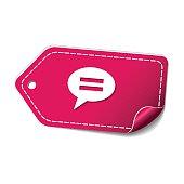 Message Pink Vector Icon Design