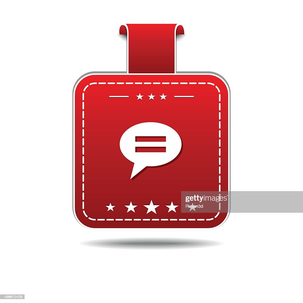 Message Red Vector Icon Design