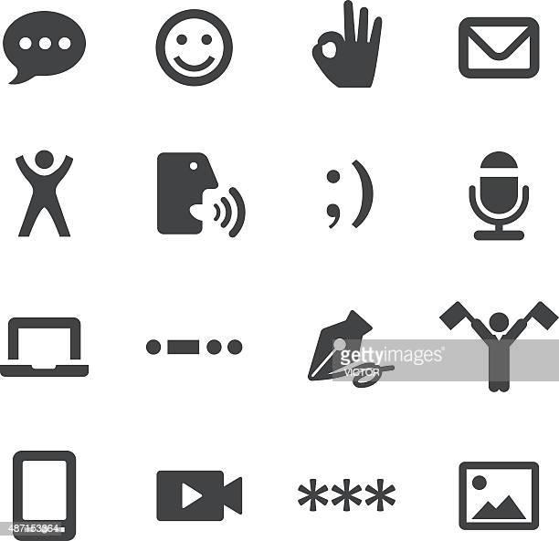 message transfer icons - acme series - semaphore stock illustrations