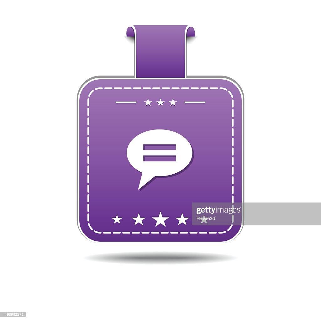 Message Violet Vector Icon Design