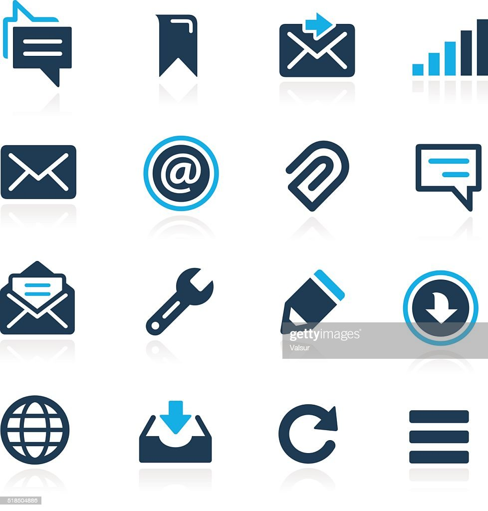 Messages Icons // Azure Series