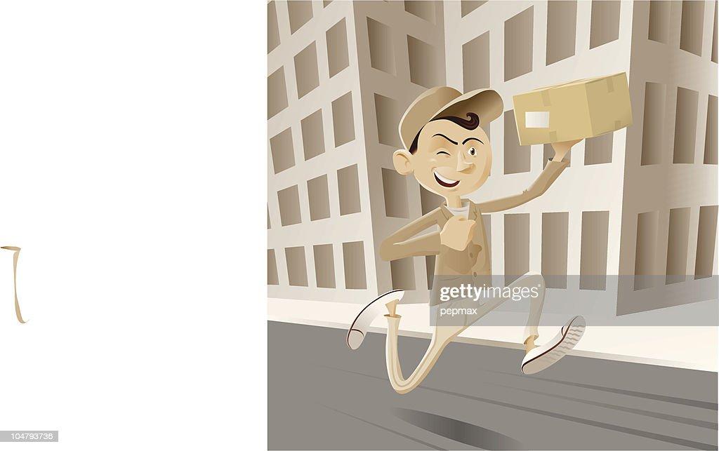 messenger boy running