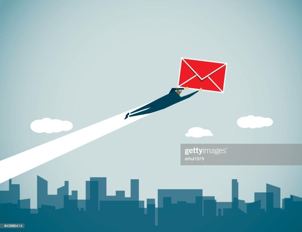 Messenger : stock illustration