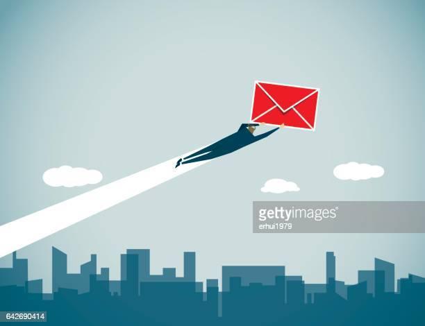 messenger - sentando stock illustrations