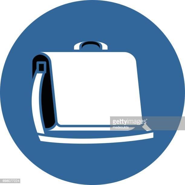 メッセンジャー - ショルダーバッグ点のイラスト素材/クリップアート素材/マンガ素材/アイコン素材