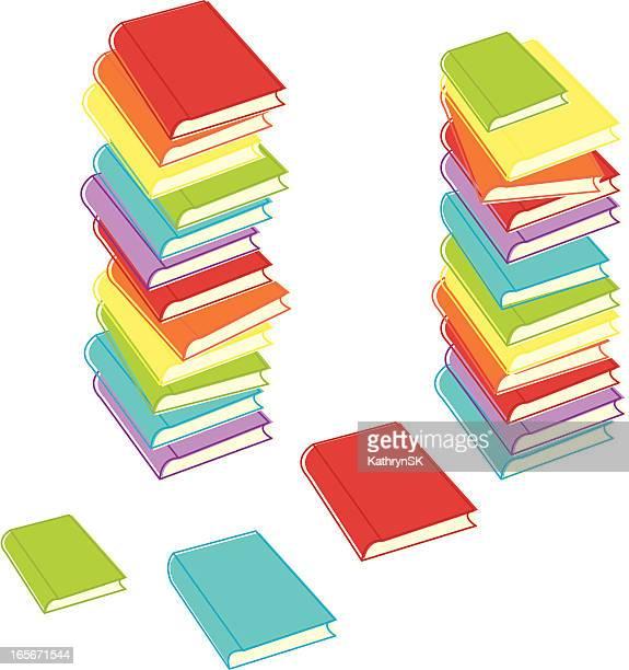 Messy Stacks of Books