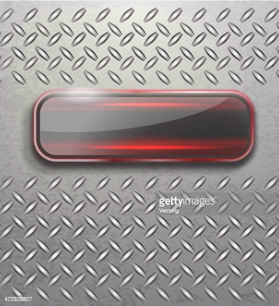 Metall Hintergrund und Glas