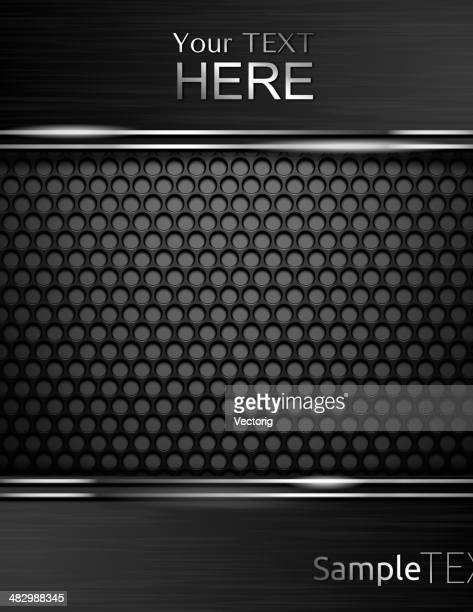 metal background and glass. - chrome stock illustrations