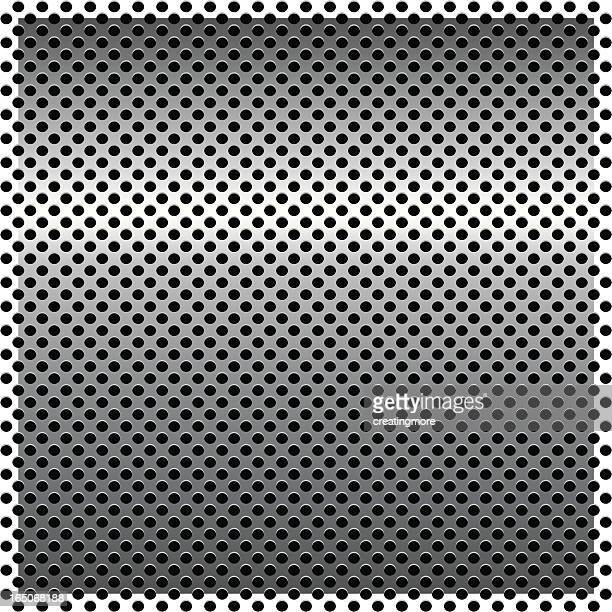 metal background series: grid circles - sheet metal stock illustrations, clip art, cartoons, & icons