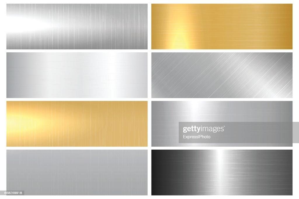 Metal bright textures.