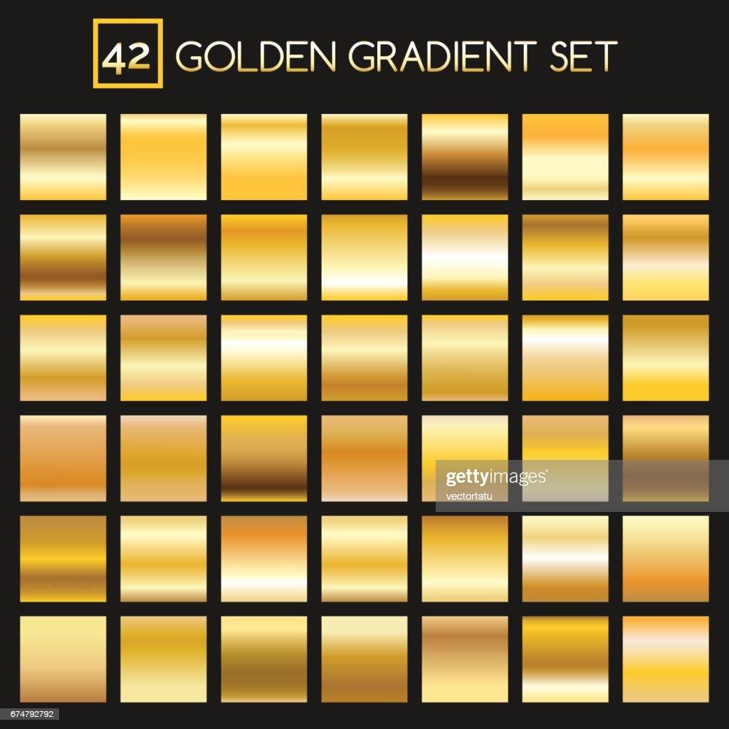 Metal golden gradients collection