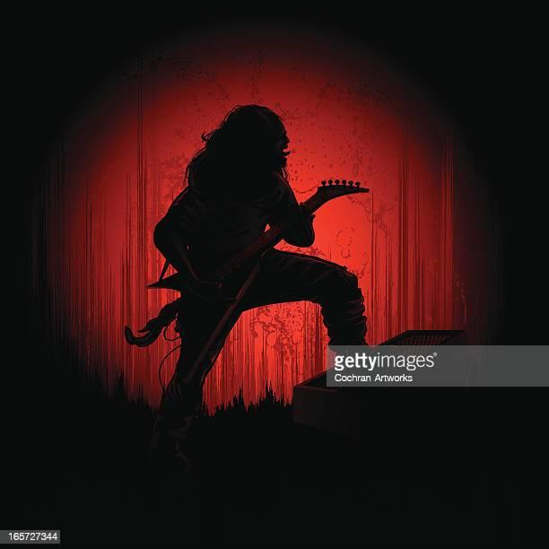 メタルギターのスポットライト