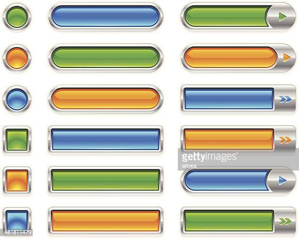 金属のインターネットボタン - ウェブ2.0点のイラスト素材/クリップアート素材/マンガ素材/アイコン素材