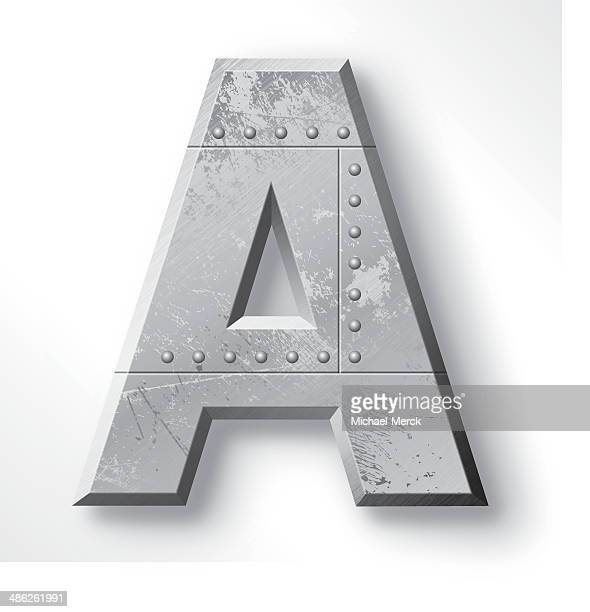 metal letter a - letter a stock illustrations
