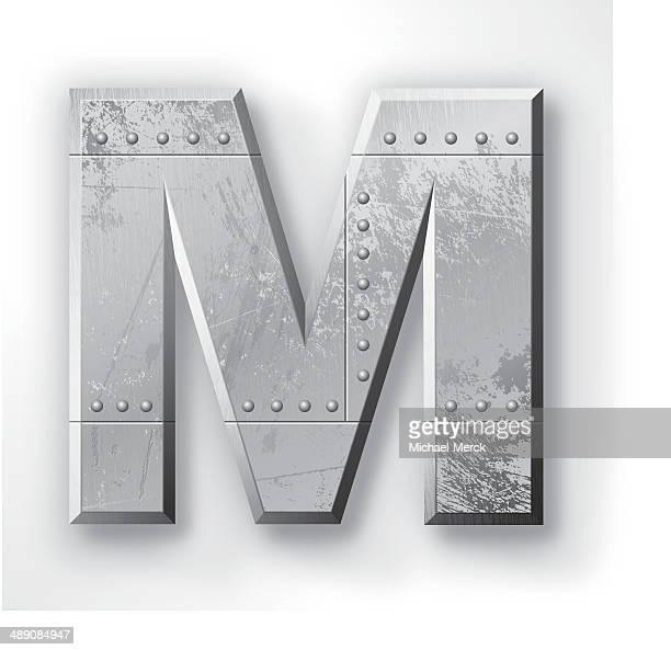 Metall-Buchstabe M