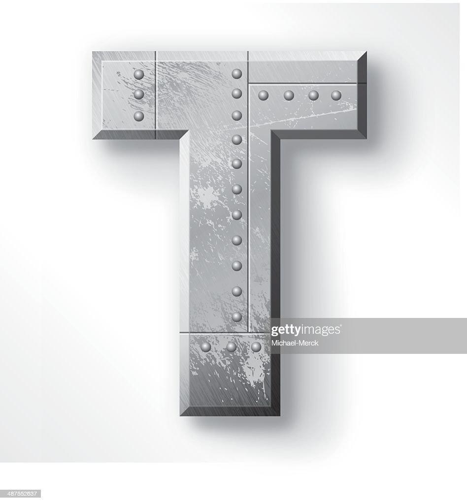 Metal Letter T Metal Letter T Vector Art  Getty Images