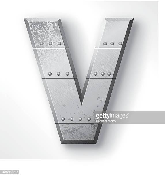 Metal Letter V