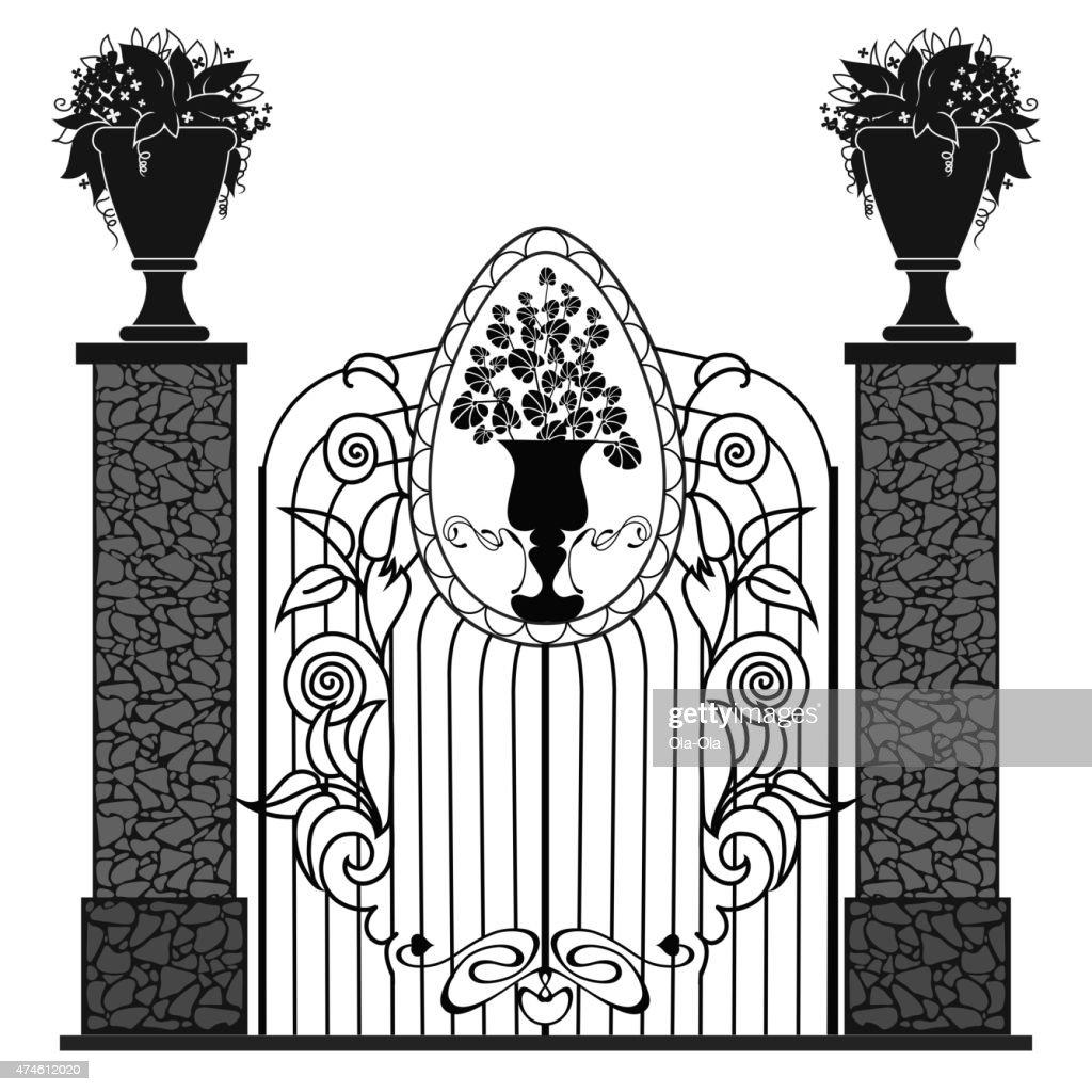 Metal ornamental gates