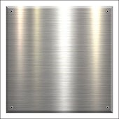 Metal Plate - Brushed metal background