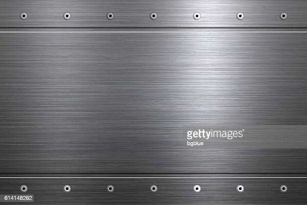 metal plate - metal texture - sheet metal stock illustrations, clip art, cartoons, & icons