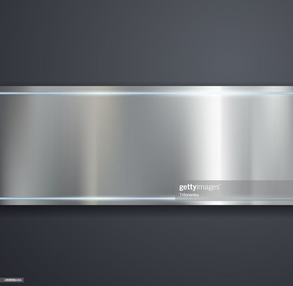 metal plate on a gray background.