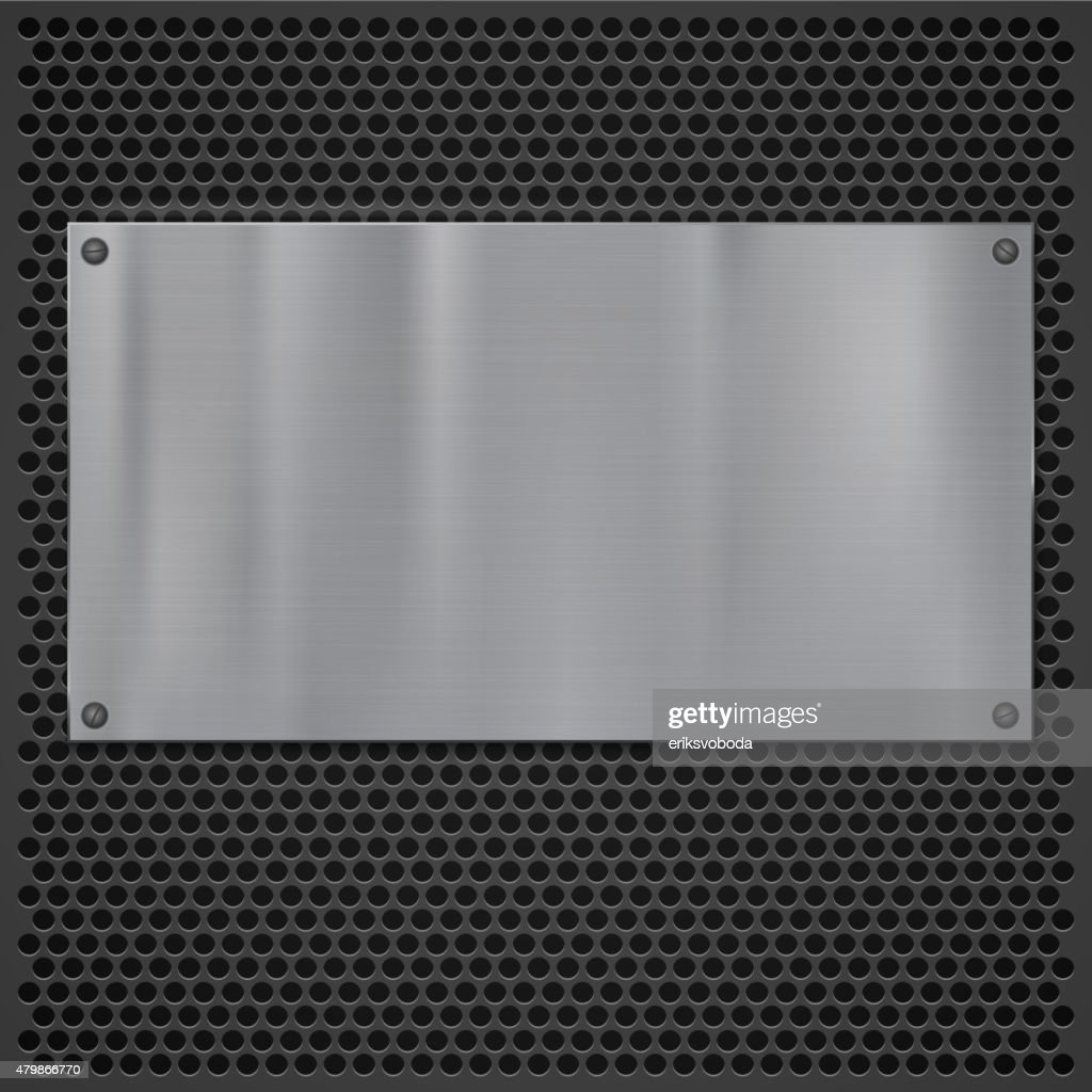 Metal plate over grate texture