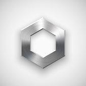 Metal Polygon Button Template