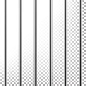 Metal Prison Bars Vector. Isolated On Transparent Background. Realistic Steel Pokey, Prison Grid Illustration