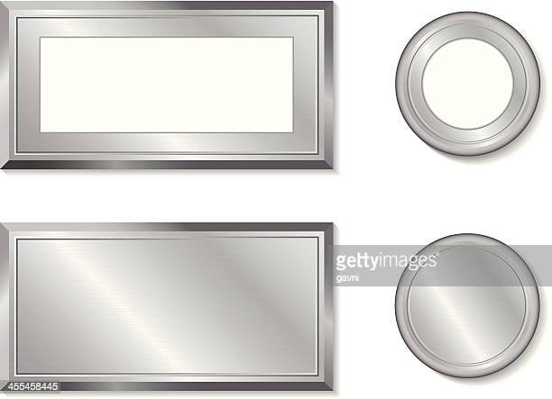 metal shapes - award plaque stock illustrations, clip art, cartoons, & icons