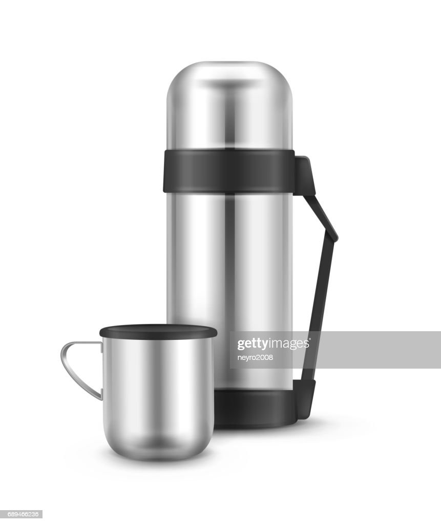 Metal thermos flask