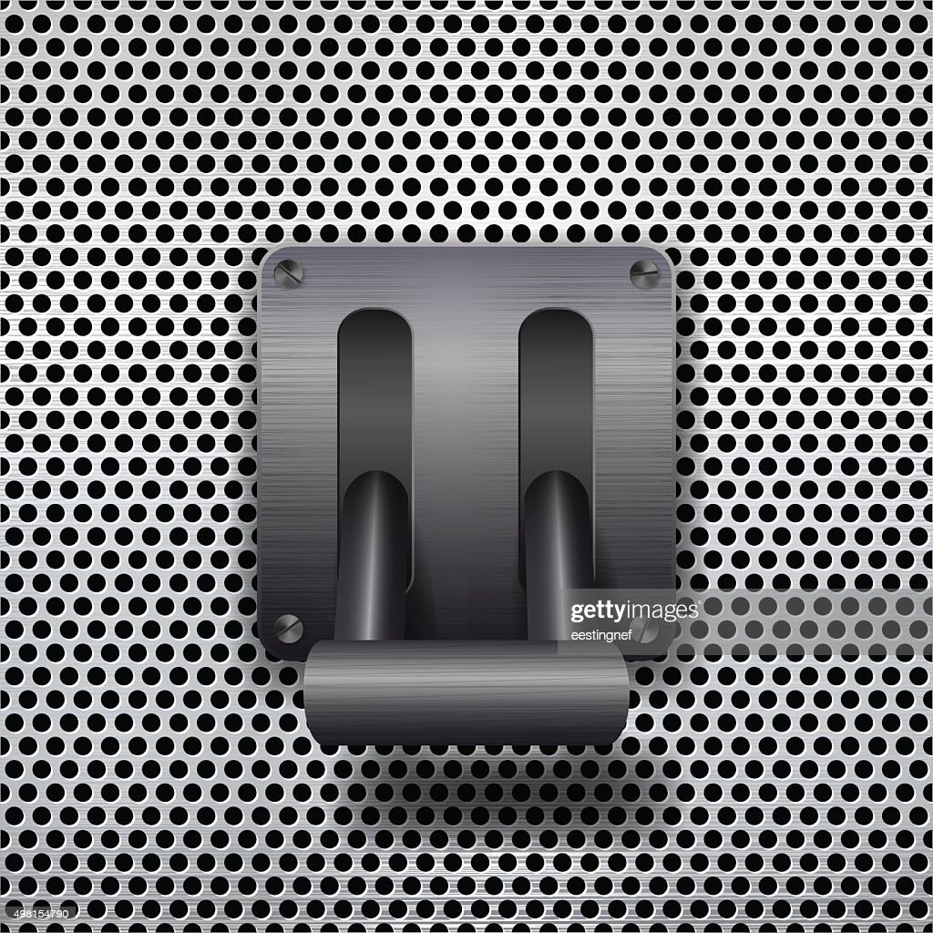 metal toggle switch.