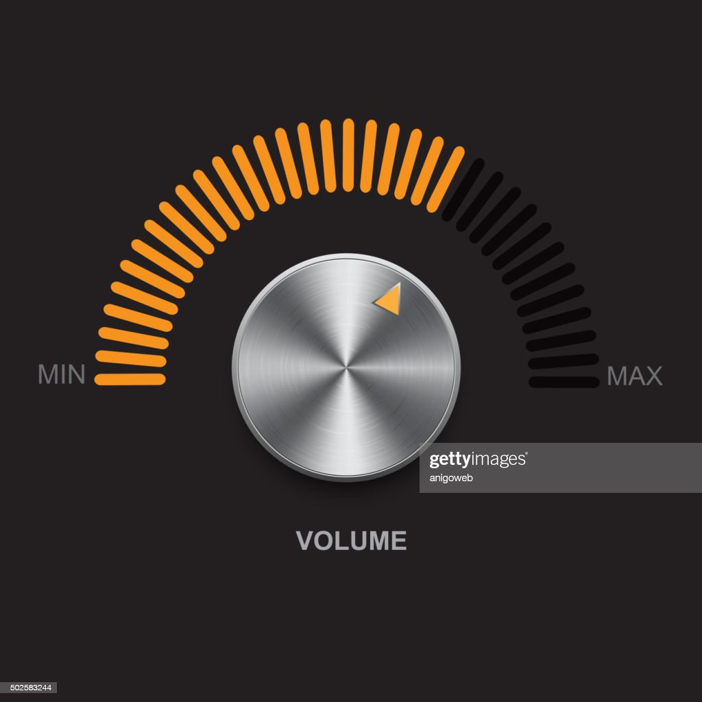 Metal volume button