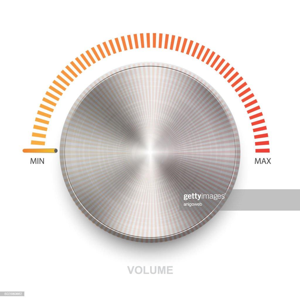 Metal volume sound button.