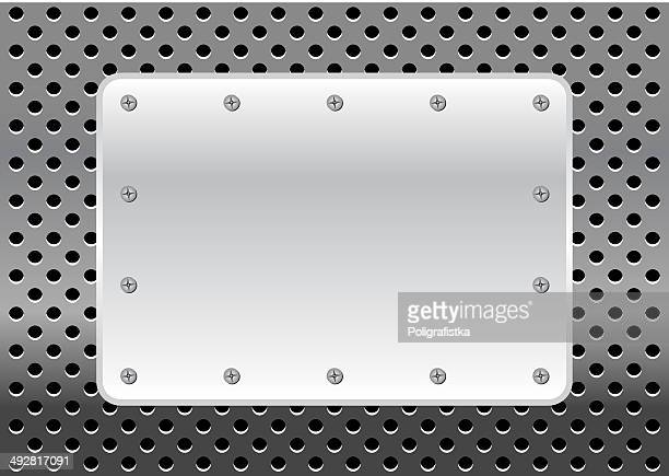metal with plate - memorial plaque stock illustrations, clip art, cartoons, & icons