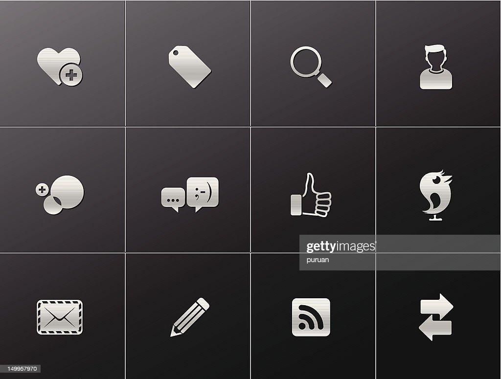 Metalic Icons - Social Network