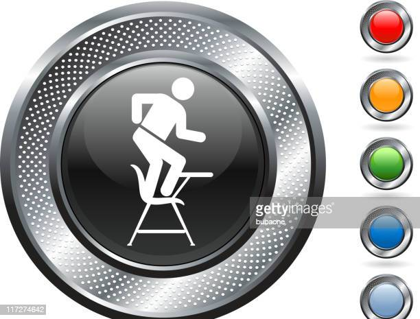 Metallic Border Icon With Image of Student Dancing in Class